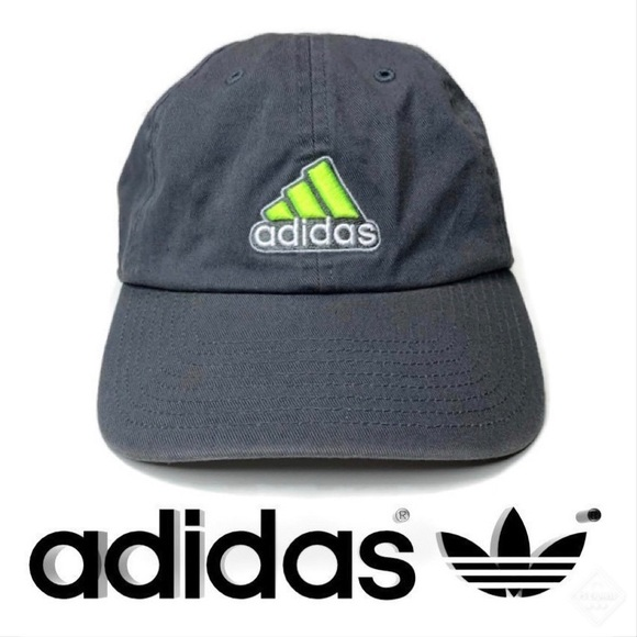 d54a60586 Adidas Grey/Neon Green Ultimate Dad Hat
